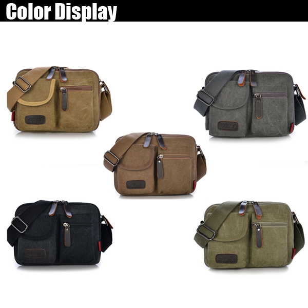 Men Canvas Casual Messenger Multifunctional Outdoor Shoulder Bag