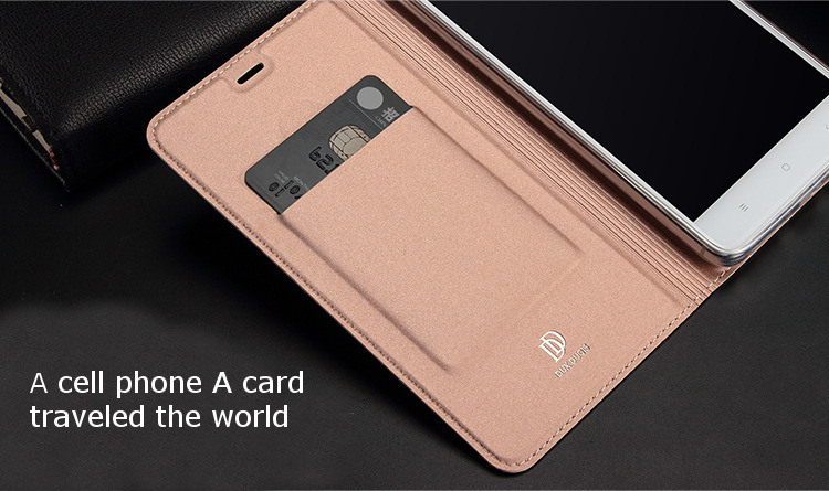Flip Skin Feel Card Slot Stand PU Leather Case For Xiaomi Redmi Note 4X/Redmi Note 4 Global Edition