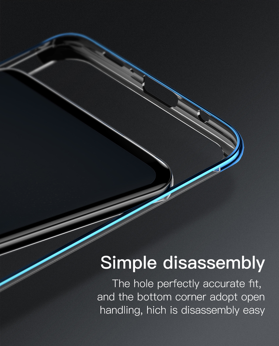 Baseus Plating Ultra Thin Clear Hard PC Phone Case for Samsung Galaxy S9