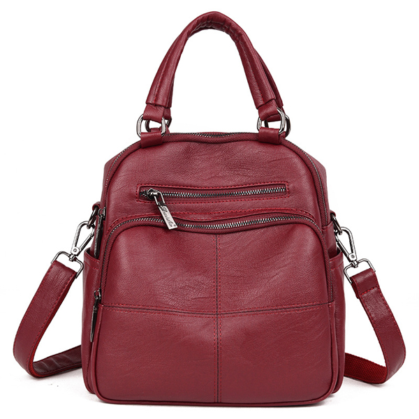 Details: Material PU Leather Color Black,Red,Pink,Gray Weight About 950g Length 25cm(9.84') Height 27cm(10.63') Width 17.5cm(6.89') Handle Height 12cm(4.72') Closure Zipper Package include: 1*Bag More Details: Disclaimer : About Size:Size may be 2cm/1 inc #handbag