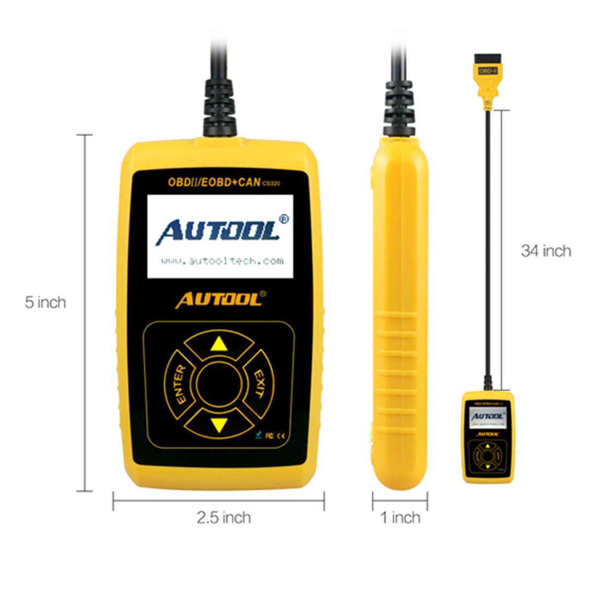 AUTOOL CS320 OBDII Car Vehicle Code Scanner Engine Fault Code Reader Auto Diagnostic Scan Tool