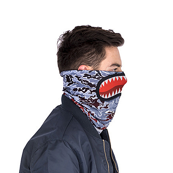 Mens Unisex Funny Print Warm Cycling Face Mask Scarf