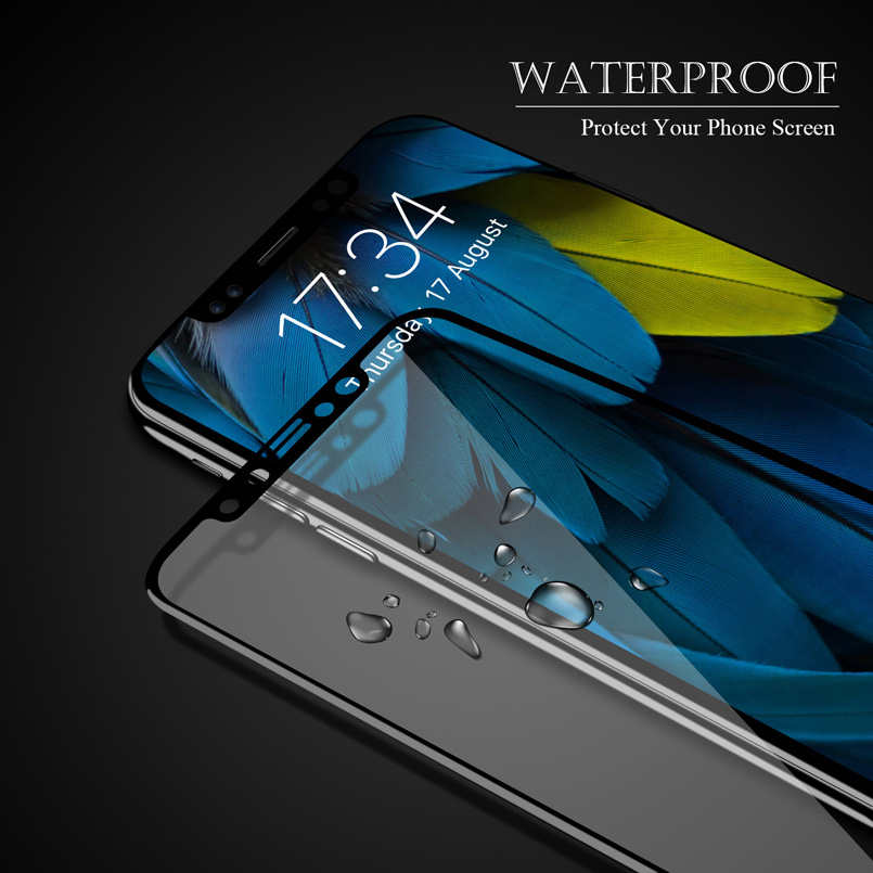 Bakeey 3D Soft Edge Carbon Fiber Tempered Glass Screen Protector Film For iPhone XS/X