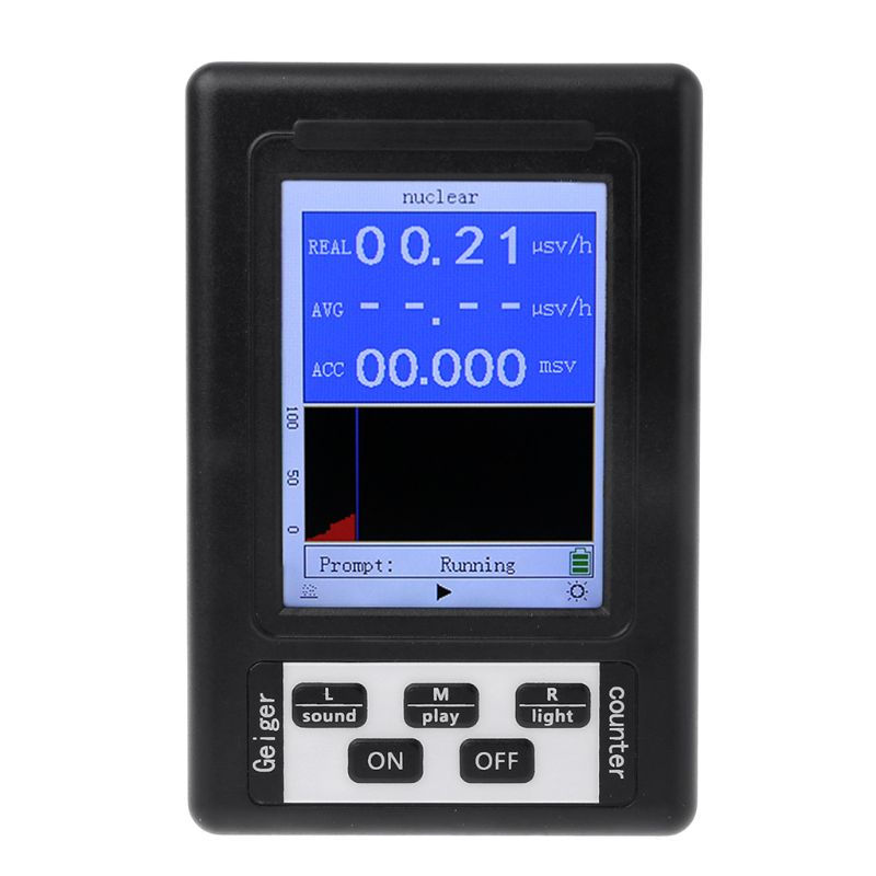 Upgraded Geiger Counter Nuclear Radiation Detector Personal Dosimeter Marble Detector Nuclear Radiation Tester with Display Screen