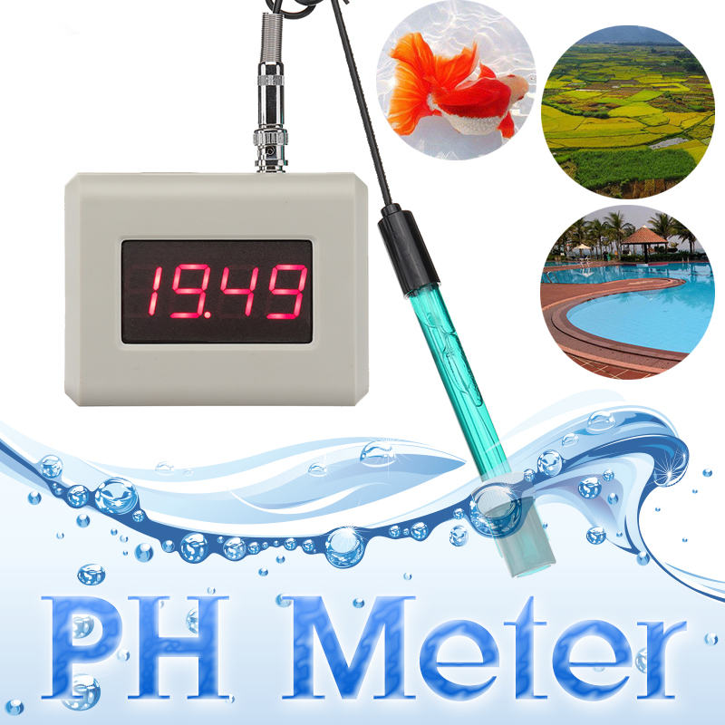 PH-025M Digital PH Meter Tester Hydroponic Pool Water Aquarium Monitor