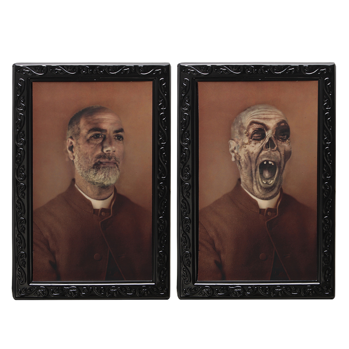 Halloween Lenticular 3D Changing Face Horror Portrait Haunted Spooky Decorations Ornaments