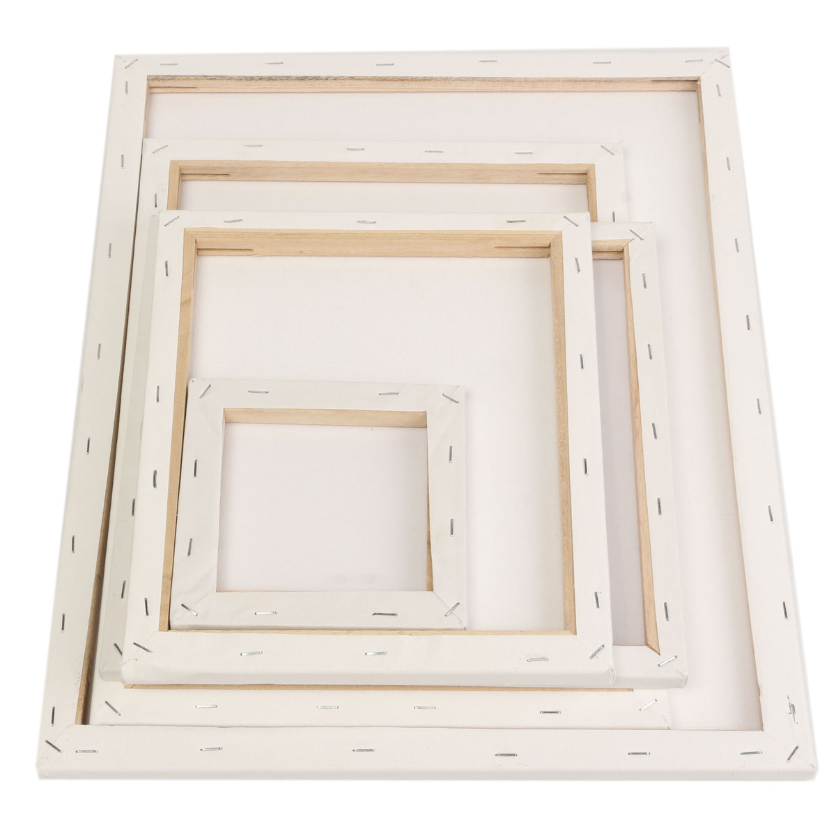 White Blank Square Canvas Painting Drawing Board Wooden Frame For Art Artist Oil Acrylic Paints
