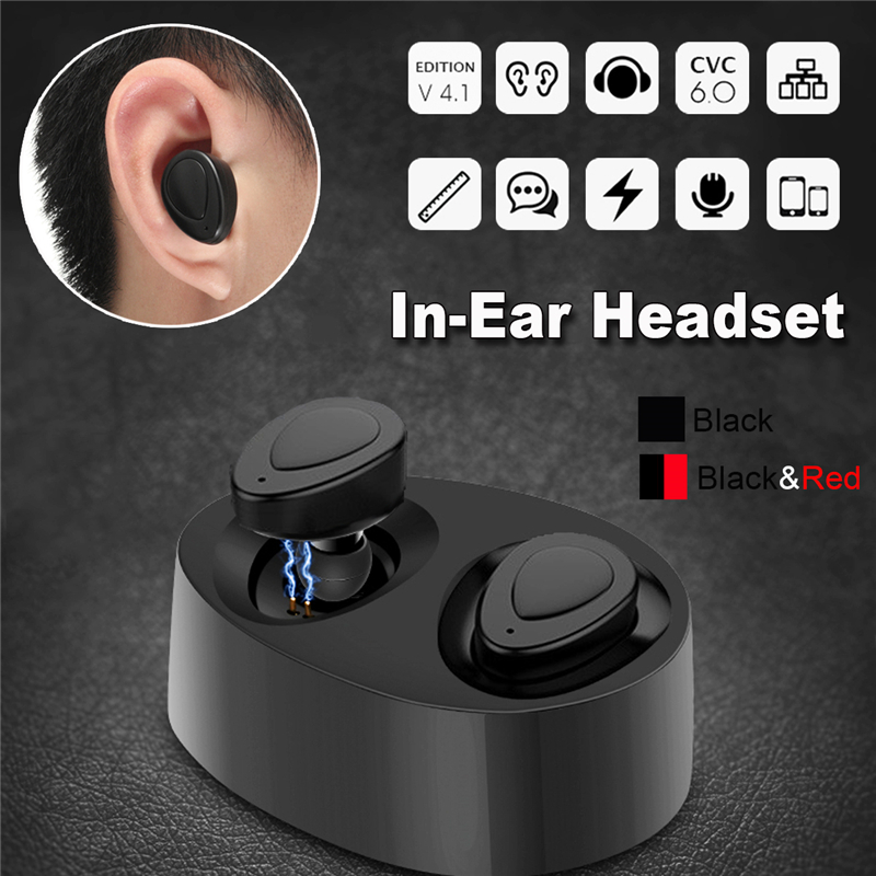 Wireless TWS Mini True bluetooth Twins Stereo In-Ear Headset Earphone Earbuds