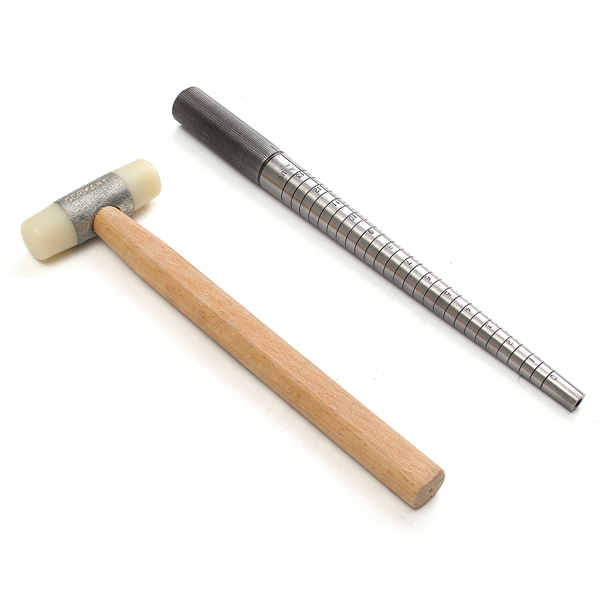 Steel Ring Mandrel and Nylon Face Mallet Sizing Foaming Making Toll Set