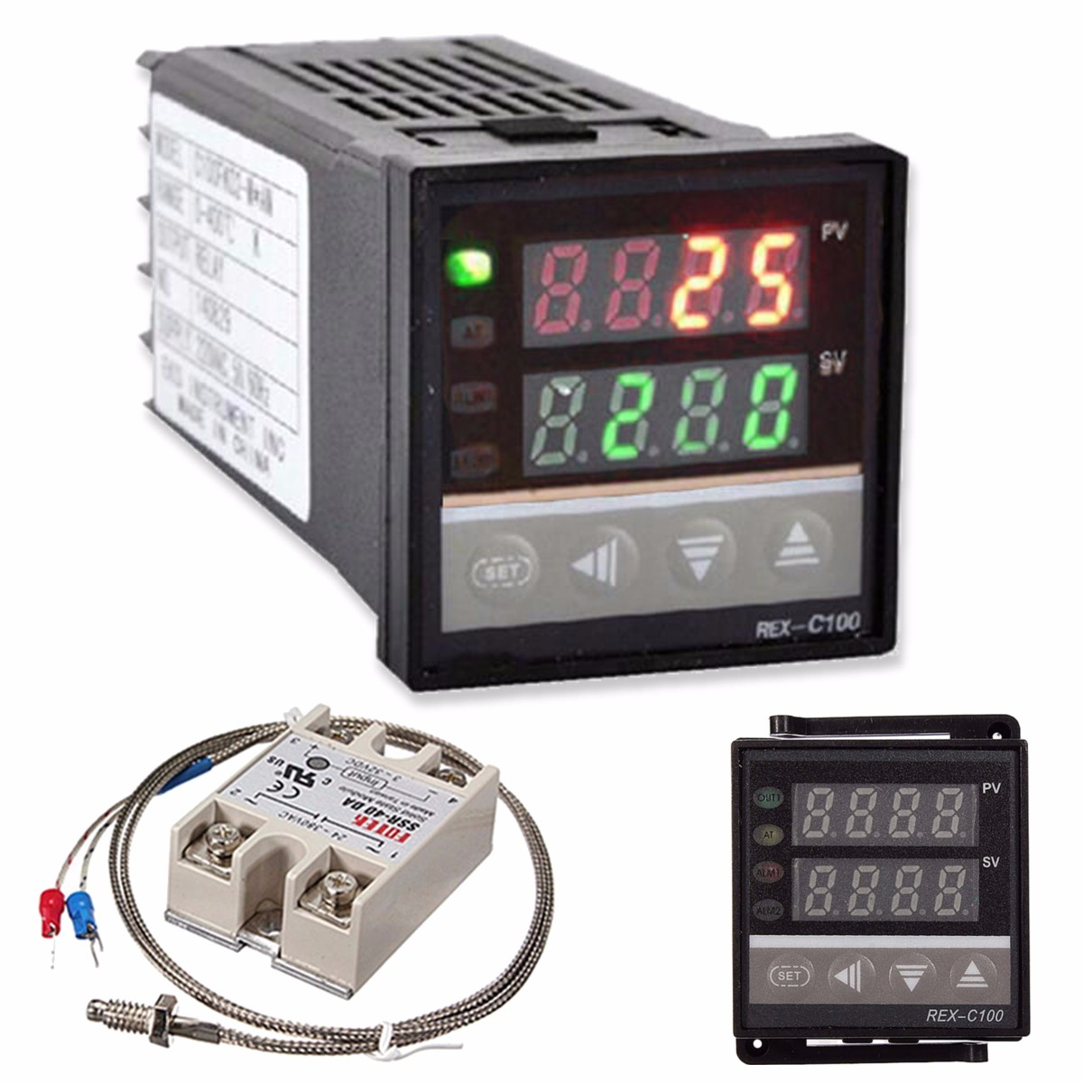 REX-C100 220V Digital PID Temperature Controller Kit
