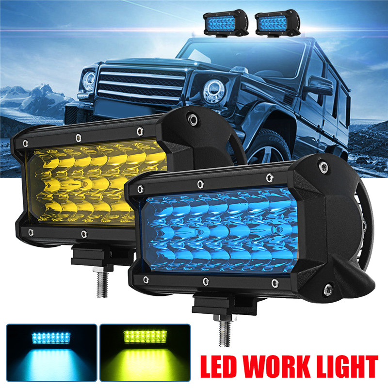 7 Inch 144W 24 LED Work Light Bar Spot Beam Car Driving Lamp for Off Road SUV Truck