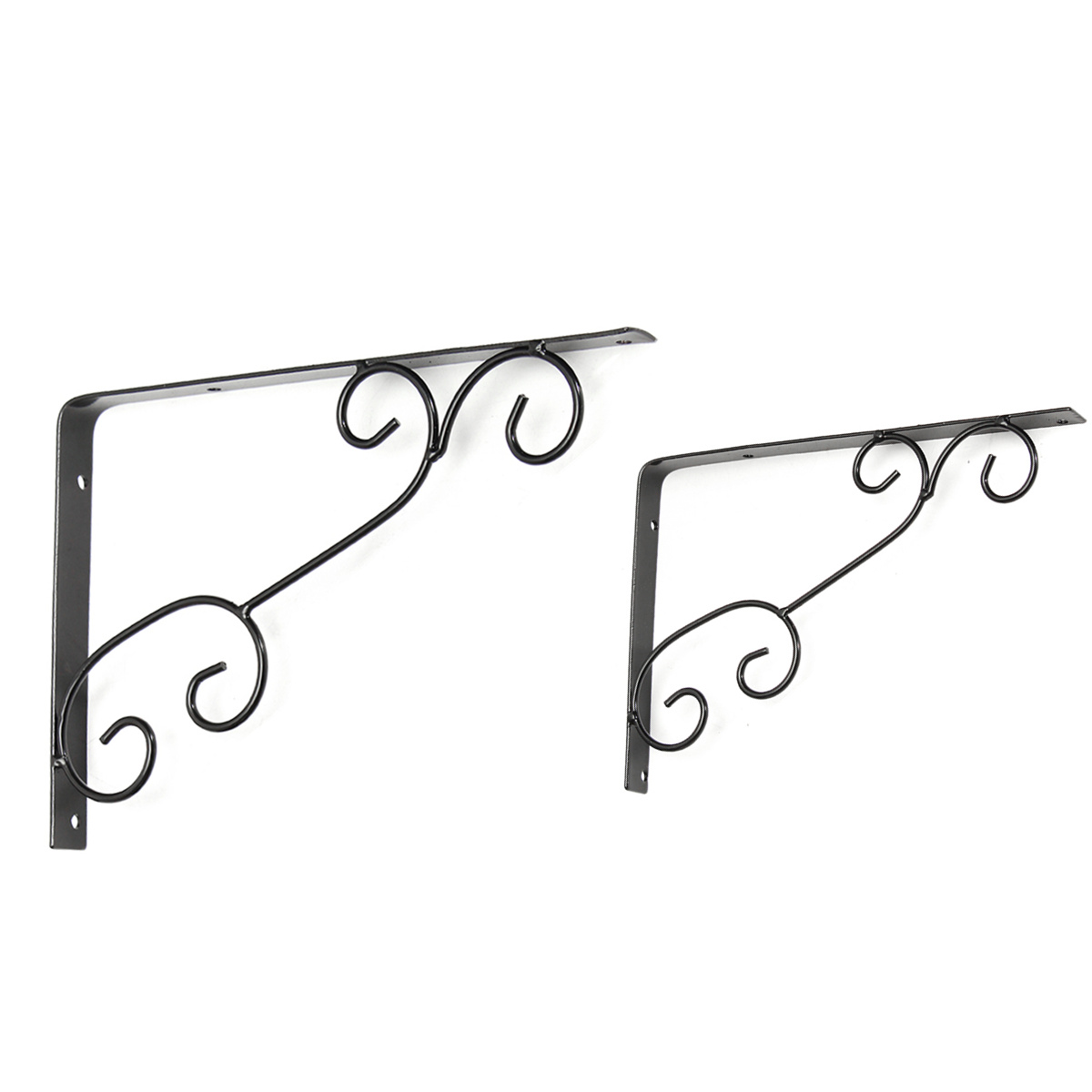 Antique Floral Cast Iron Decorative Shelf Support Brackets Wall Mounted