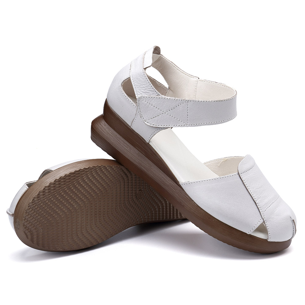 Women Soft Bottom Slope Hollow Platform Sandals