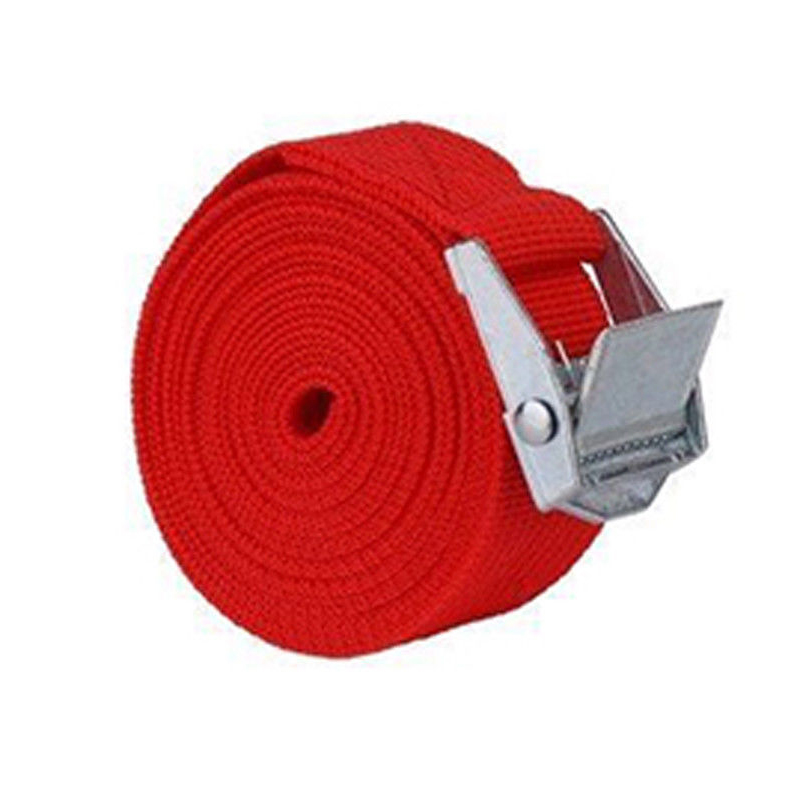 2M Car Tension Rope Tie Down Strap Travel Baggage Belt Climbing Bag Belt With Alloy Buckle