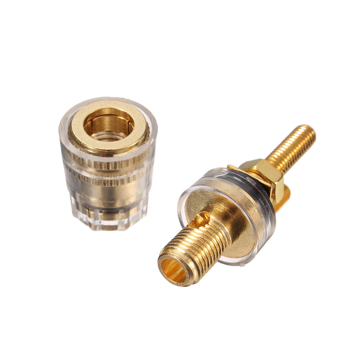Copper Crystal Audio Speaker Amplifier Terminal For 4mm Banana Plug