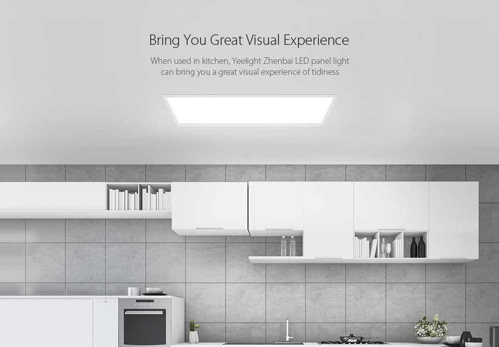 XIAOMI Yeelight Ultra Thin LED Ceiling Panel Light Downlight Dustproof 30x30cm/30x60cm AC220-240V