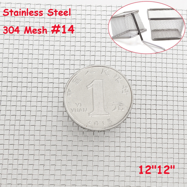 304 Stainless Steel Cloth Filtration Woven Wire Screen 14 Mesh
