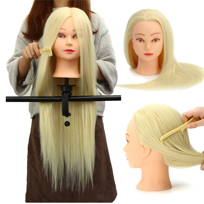 30% Real Hair Long Hairdressing Mannequin Training Prac