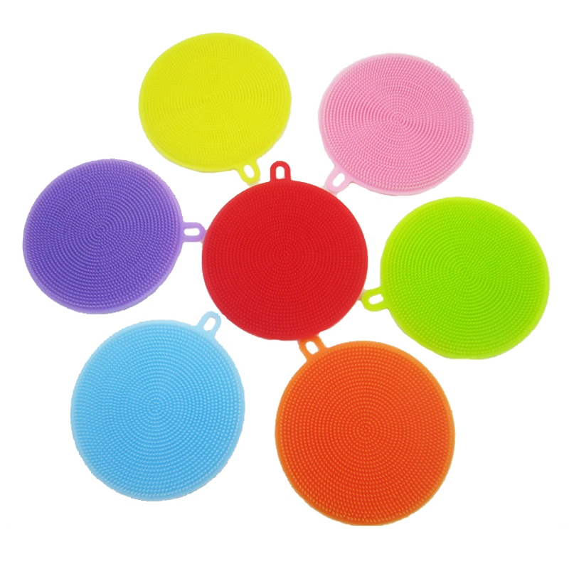 KCASA KC-CS06 Multi-purpose Silicone Dish Washing Cleaning Brush Scrubber Heat Resistant Pad Coaster