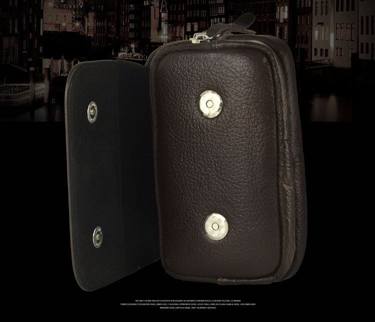 Multifunctional Magnetic Buckle Leather Waist Bag Phone Wallet Case for under 5.5 inches Smartphone