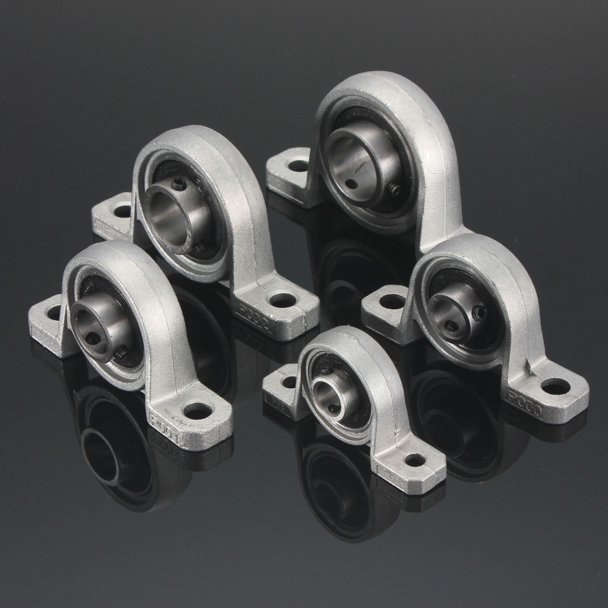 8mm to 35mm KP Series Bore Diameter Mounted Ball Bearings Zinc Alloy Pillow Block Linear Bearing