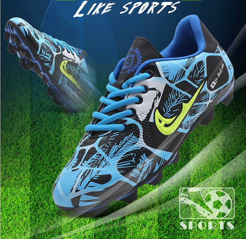 Outdoor Football Boots Artificial Grass Teenager Training Spike Soccer shoes