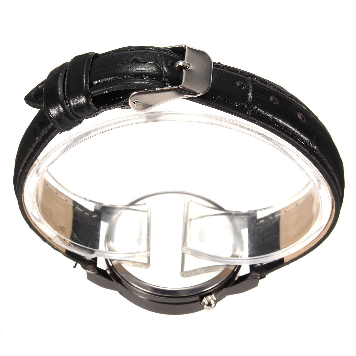 Casual Concise Analog Quartz Business Style PU Leather Band Wrist Watch