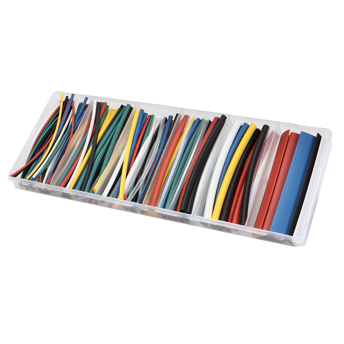 160 PCS Halogen-Free 2:1 Heat Shrink Tubing Wire Cable Kit 6 Sizes 7 Colors Wrap