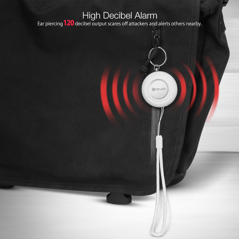 [ 2019 Third Digoo Carnival ] DIGOO DG-PA01 Personal Portable Alarm Mini 120dB Loud Keychain Alarm Child Anti-lost Alarm Girl Women Anti-Attack Security Protect Alert
