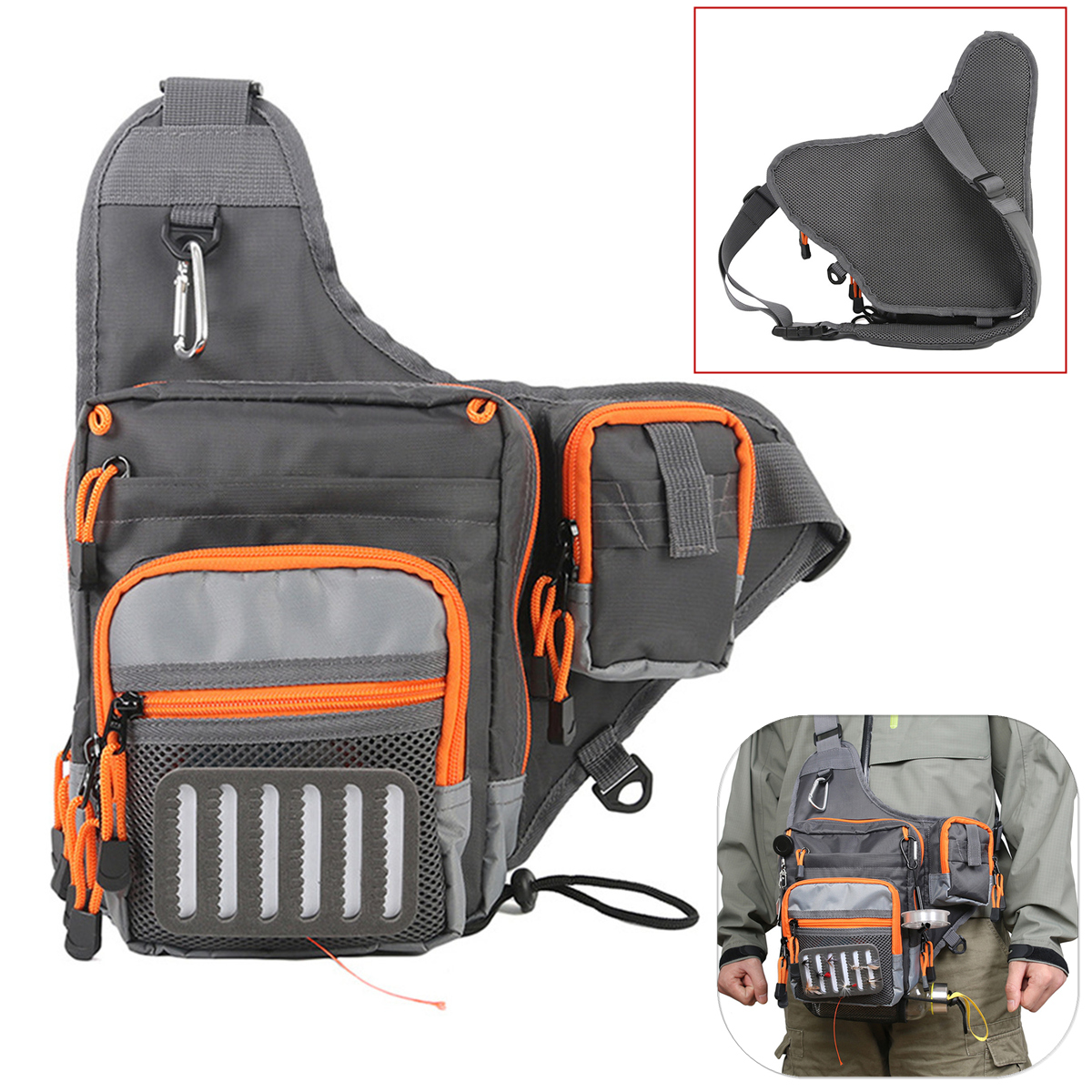 Maxcatch Polyester Fishing Sling Bag Multifunctional Fl