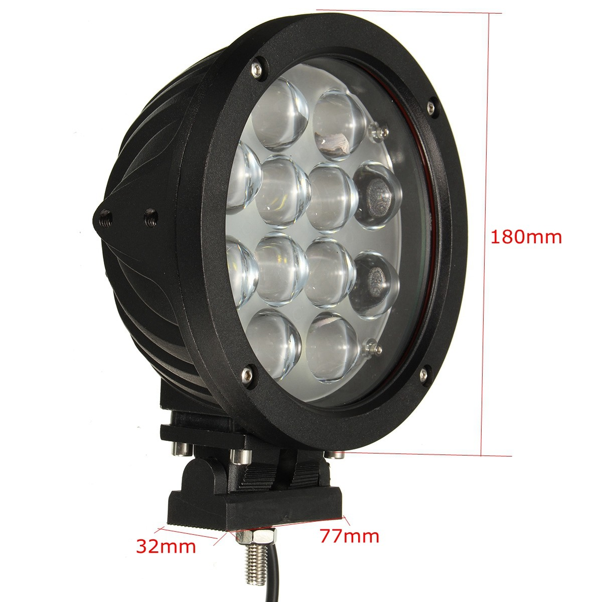 60W 7inch LED Work Light Spot Beam Lamp for 4WD Off Road ATV SUV 6000K 4200LM