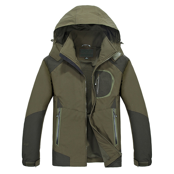 Mens Outdooors Waterproof Breathable Quick Drying Jacket Casual Spring Elasticity Coat