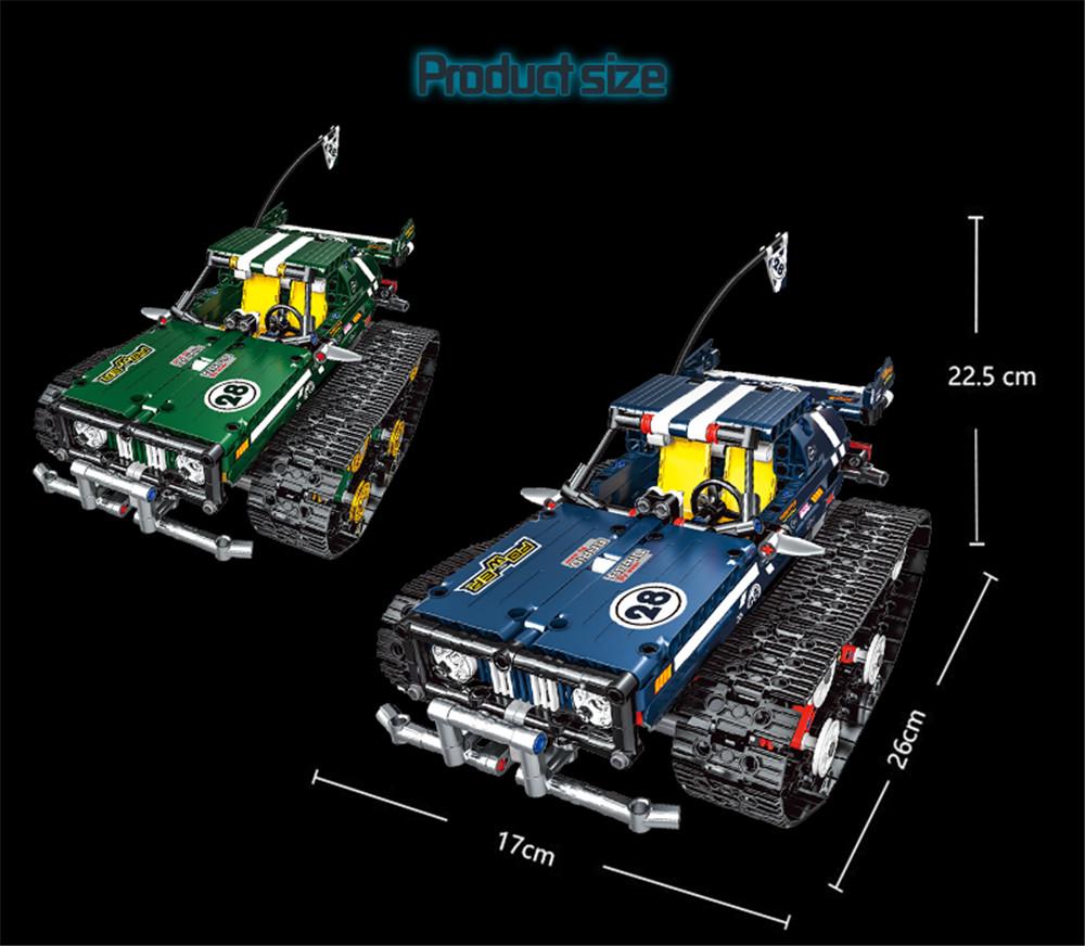 13025/26 2.4G Suspension Vehicle Building Block Kits Tracked RC Car DIY Bricks Toys 626Pcs