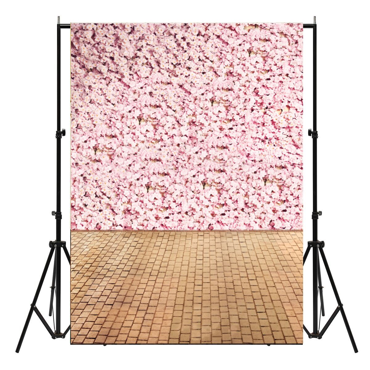 Vinyl Valentine's Day Pink Flowers Floor Photography Background Studio Photo Prop Backdrop