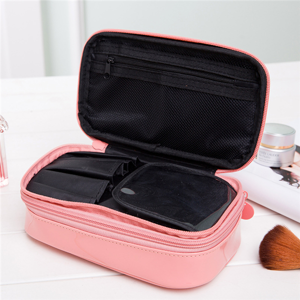 Candy Color PU Leather Cosmetic Storage Bag Travel Bag Wash Bags