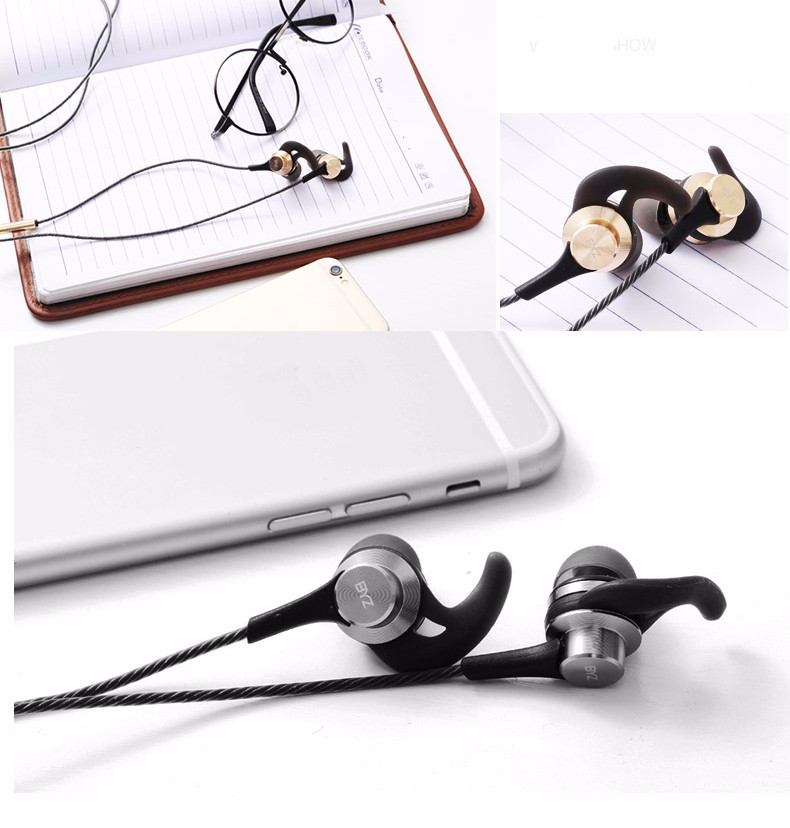 BYZ K68 3.5mm Universal In-ear Heavy Bass Sport Metal Earphone for Samsung Huawei Xiaomi iPhone
