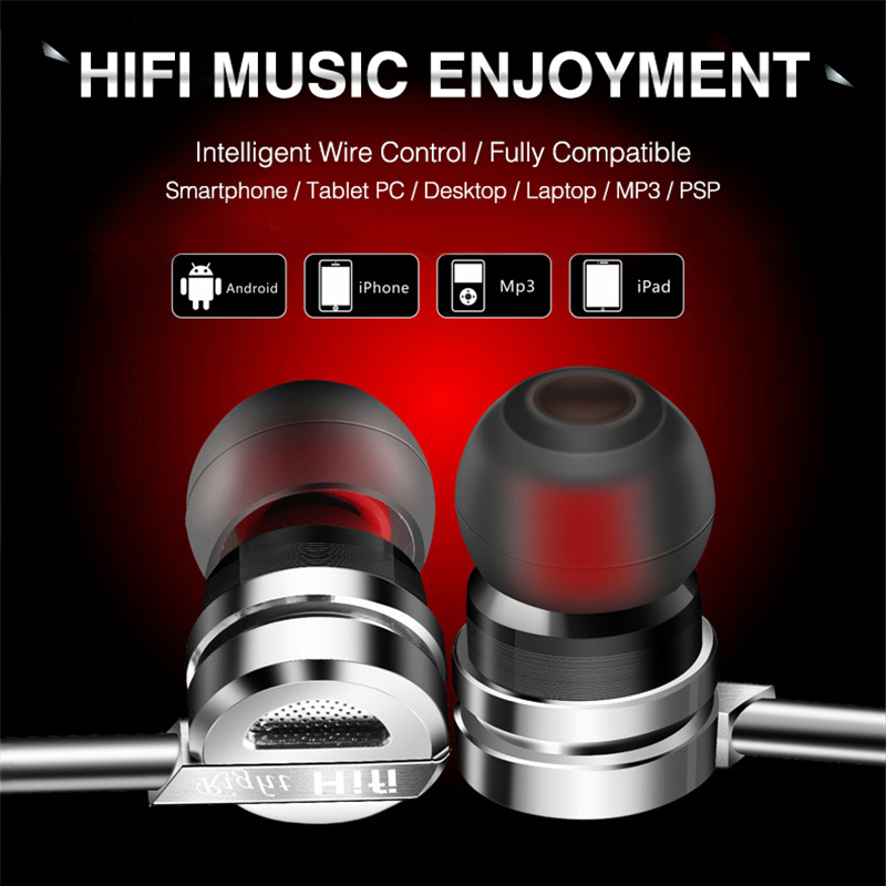 FONGE C05 3.5mm Plug In-ear Wired Control Heavy Bass Earphone With Mic