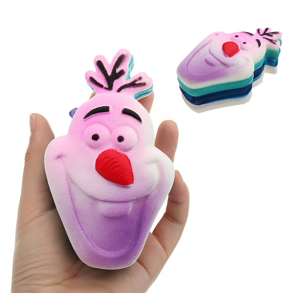 Squishy Snowman Frozen Cartoon Soft Slow Rising Toy Cute Gift Collection