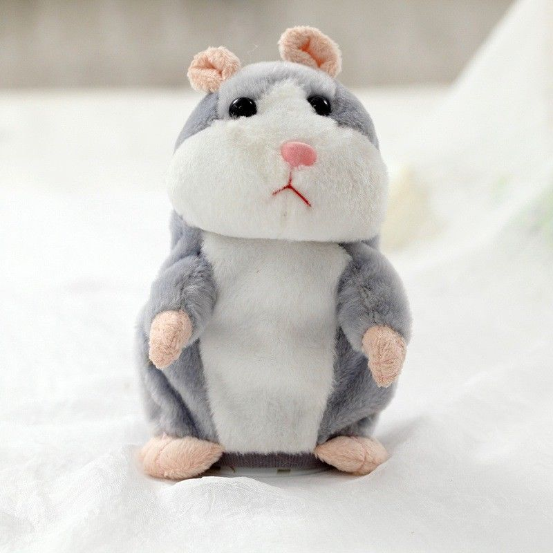 16/18cm Speaking Hamster Plush Toy Children Record Sound Game Battery Powered Toys