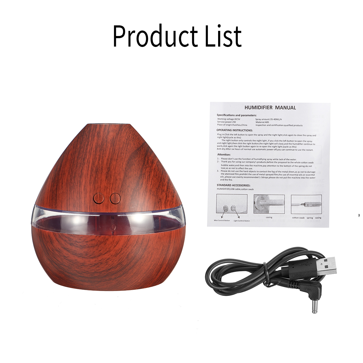 USB LED Aroma Ultrasonic Humidifier 300ML Summer Aromatherapy Essential Oil Air Diffuser Gift