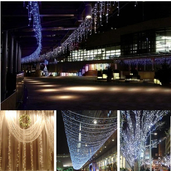 6x3M Outdoor Xmas Tree String Fairy Wedding Curtain Light Party Lamp 220V