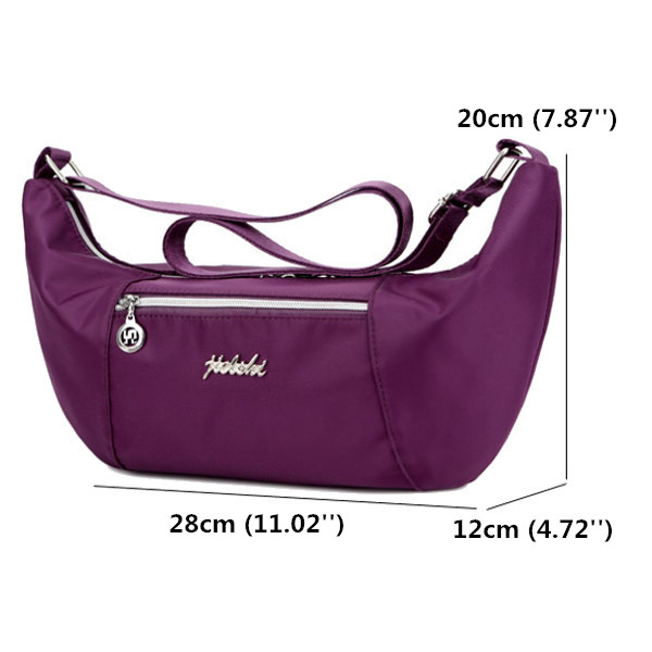 Women Nylon Light Shoulder Bags Casual Outdoor Sports Waterproof Crossbody Bags