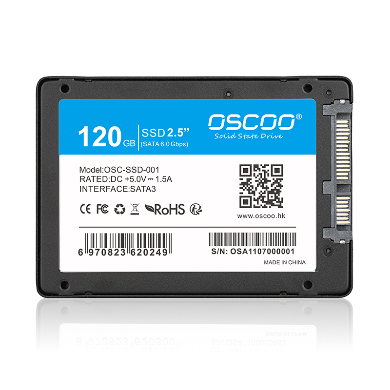 OSCOO 120GB 2.5inch SATA 3 6Gbps Internal SSD Solid Sta