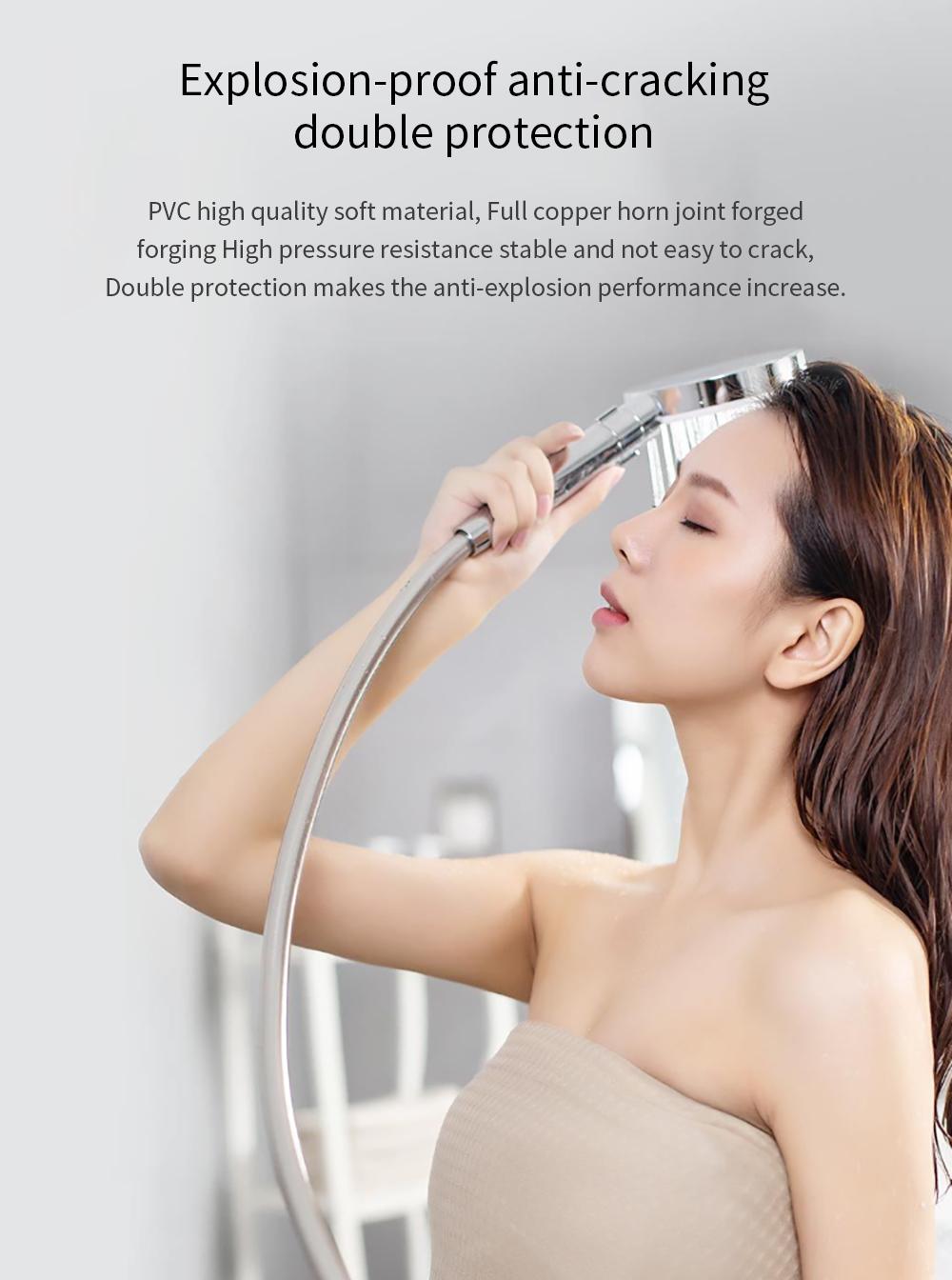 Xiaomi Diiib 3 Modes Adjustment Handheld Shower Head Set 360° 120mm 53 Water Hole with PVC Matel