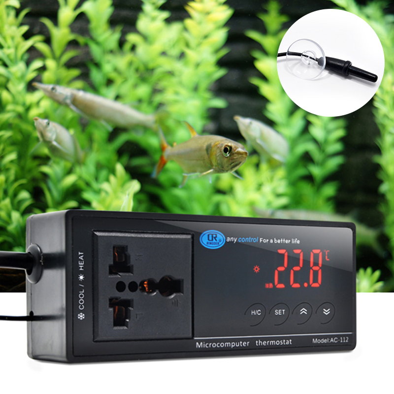 Adjustable Electronic Thermostat Digital Temperature Controller with Universal Socket