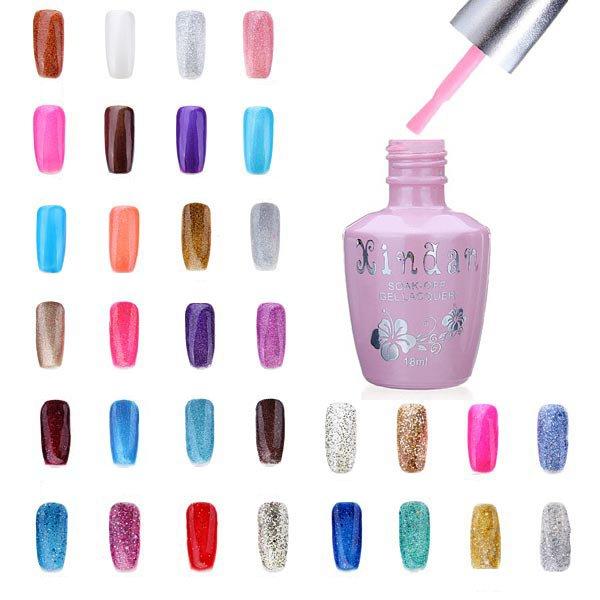 18ml Nail Art Soak Off Glitter 97-144 Color UV Gel Poli