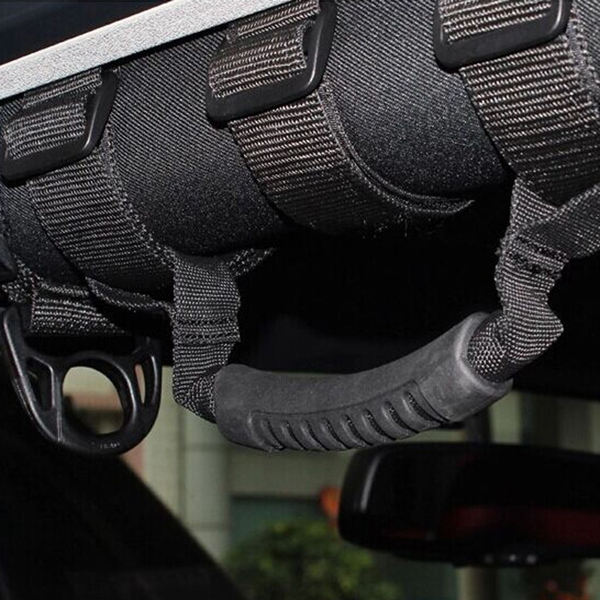 Roll Bar Mount Side Nylon Handles Grab For Jeep Wrangler JK CJ TJ 4WD Off Road Accessories