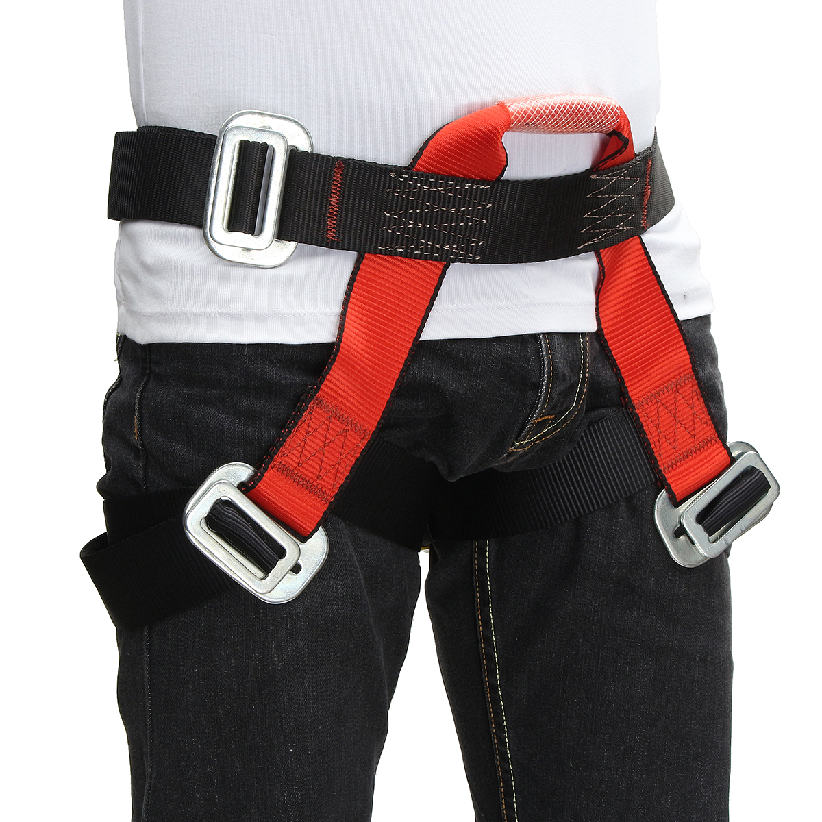 Outdoor Mountain Rock Climbing Rappelling Harness Bust Belt Rescue Safety Seat Sitting Strap