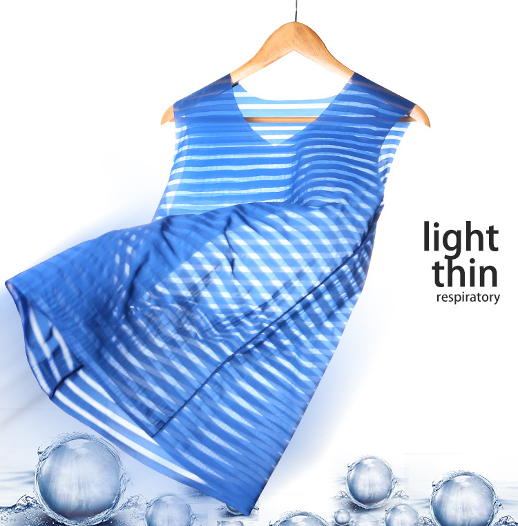 Sexy Men's Semitransparent Vest Thin Silk Seamless O-Neck Undershirt Tight Sleeveless Tops