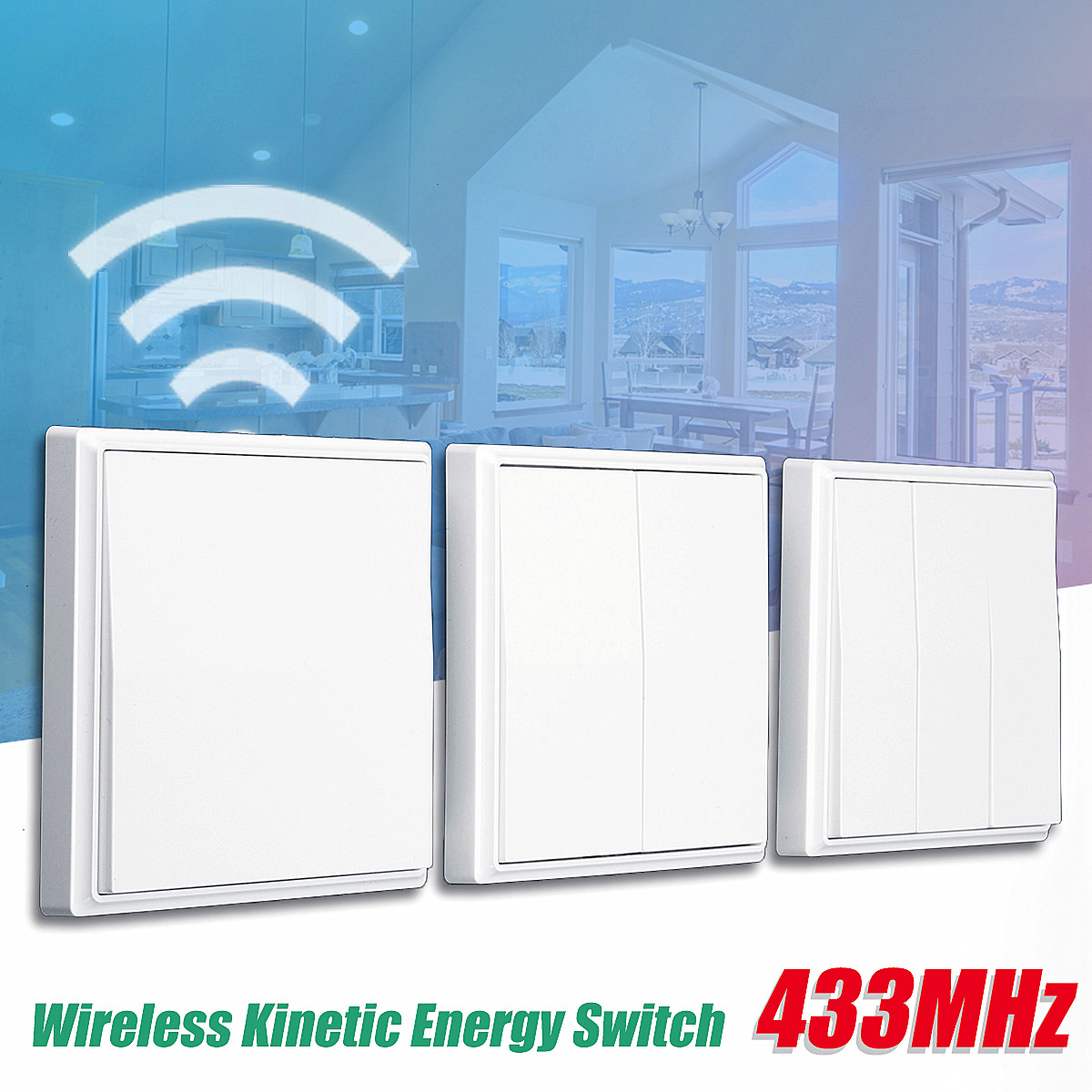 433MHz 1/2/3-Key Stairway Remote Control Switch Protocol Wireless Energy Switch Corridor Room Home Remote Lighting Remote Switch